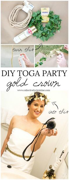 So I went to my first toga party a couple weeks back. I did go to college but I never went to a toga party. My boyfriend also had never been to one either. Greek Party Decorations, Party Themes, Party Ideas, Themed Parties, Toga Party Costume, Diy Toga, Greece Costume, Greece Party, Greek Toga