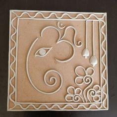 Ideas painting elephant canvas ideas for 2019 Clay Ganesha, Ganesha Painting, Clay Art Projects, Clay Crafts, Mural Painting, Mural Art, Art N Craft, Diy Art, Clay Wall Art