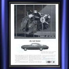1966 Chevrolet Impala SS 427 Turbo Jet V8 DO NOT TEASE Vintage Ad from West Coast Vintage for $10.00 on Square Market
