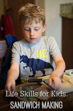 Developing life skills for kids is a great way to encourage independence, practice fine-motor skills, and foster self-confidence. Sandwich Making is an important life skill that children as young as 3 can do with assistance.