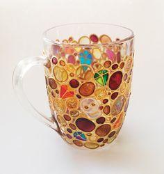Gemme di cristalli & teschi tazza vetro tazza di caffè di ArtMasha