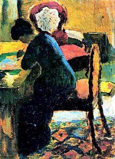 """August Macke (1887-1914) - Elisabeth Gerhardt """"Mein zweites Ich"""" , zo omschrijft August Macke zijn vrouw Elisabeth in een brief. Dat zegt ..."""