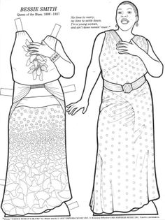 great women coloring book paper dolls