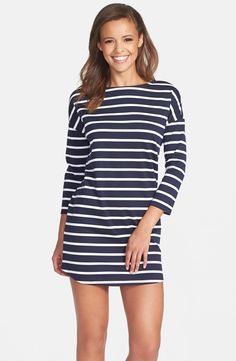 'Phillipa' Stripe Ponte Shift Dress / #nordstrom @nordstrom