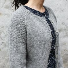 Image of DK-0021 Yndlings Cardigan Str. XS - XXL Diy Crochet And Knitting, Crochet Cardigan, Free Knitting, Knitting Patterns, Cardigan Design, Needle And Thread, Mantel, Knitwear, Cardigans