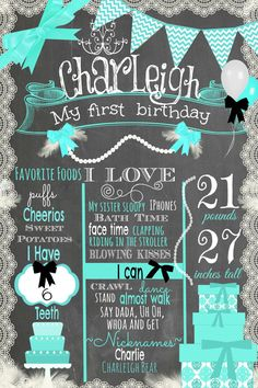 First Birthday Chalkboard Breakfast At by themilkandcreamco