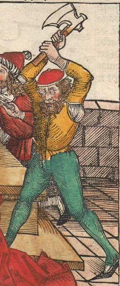 Schedel, Hartmann / Alt, Georg / Wolgemut, Michael: Das buch der Cronicken vnd gedechtnus wirdigern geschichte[n], vo[n] anbegyn[n] d[er] werlt bis auf dise vnßere zeit Nürmberg, 1493 Ink S-197 - GW M40796 Folio NP