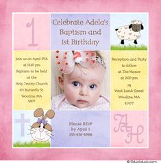 611f7df2aff73520077bd1e0722840b2 first birthday invitations baptism invitations 1st birthday and christening baptism invitation sample baptism,1st Birthday Christening Invitations