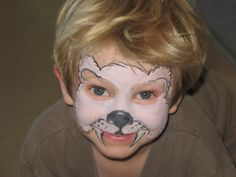 Easy polar bear face paint by Madison Davis of Two-Faced