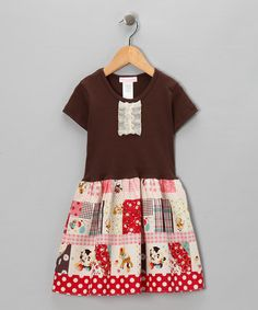 Take a look at this Brown Storybook Dress - Infant, Toddler & Girls by Alejandra Kearl Designs on #zulily today!
