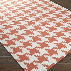 in LOVE with this houndstooth rug Houndstooth Dhurrie Rug: 5 Colors