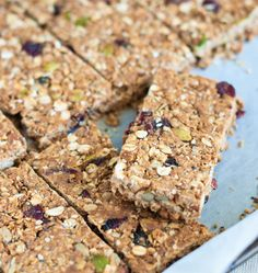 Low-fat Granola Bars with Banana, Cranberries, and Pecans ~ The Way to ...