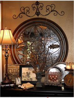 wrought iron outdoor wall decor italian tapestry tuscan style tuscan style art tuscan themed wall art rustic wall tuscan bedroom design italian wall art decor - 4 Rustic Ideas for Kitchens with Tuscan Wall Decor Tuscan Decorating, Interior Decorating, Interior Design, Decorating Ideas, Tuscan Wall Decor, Style Toscan, Style Cottage, Tuscany Decor, Planer Layout