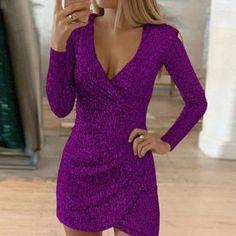 Fashion Sexy Elegant Party Mini Bodycon Sequin Women Dresses
