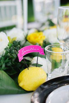 Photography: Kristyn Harder - kristynharderphotography.com  Read More: http://www.stylemepretty.com/canada-weddings/2014/09/24/kate-spade-lemon-wedding-inspiration/