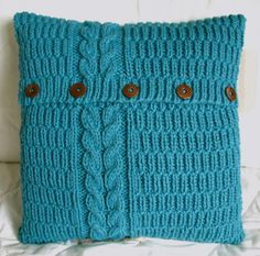 knitted pillowcase