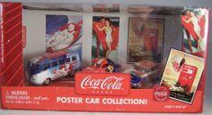 ctd-Johnny Lightning 2003 Coca Cola Poster Car 3pack-'37Coupe/'59Tbird/'65VWBus