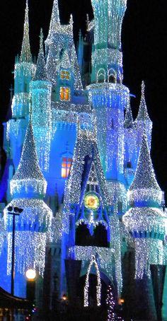 Cinderellas Castle at Christmas