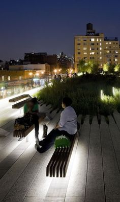 Highline - constructed on abandoned rail line in NYC