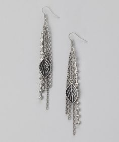 Take a look at this Alexa Starr Silver Leaf Tassel Earrings by Alexa Starr Jewelry on #zulily today!