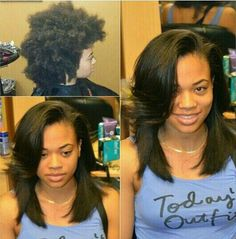 Natural hair STRAIGHTENING your hair is NOT BAD Why not change things up a bit, you'd rock it anyway. Just try a blowout instead of relaxer, blowouts won't hurt your hair nearly as much as relaxer would! Natural Hair Tips, Natural Hair Journey, Natural Hair Styles, Natural Hair Blowout, Going Natural, Rides Front, Hair Affair, Relaxed Hair, Love Hair