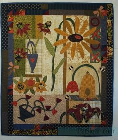 Hello Nice to meet you, I'm block Wool Applique Quilts, Hand Applique, American Patchwork And Quilting, Primitive Quilts, The Quilt Show, Fall Quilts, Quilted Wall Hangings, Mini Quilts, Mosaic Art