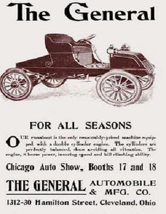 1903 THE GENERAL AUTOMOBILE and MFG X