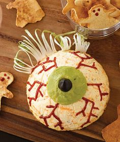 Halloween Party Food Ideas | Halloween Party Decorations | Giant Eyeball Cheeseball