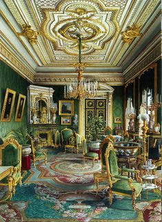 Palace of Count PS Stroganov-Lounge. by Jules Mayblum.