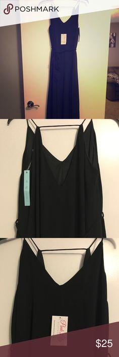 Black maxi dress Black maxi dress never worn. Still has tags Dresses Maxi