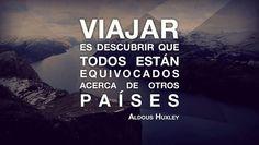 Viajar es descubrir que todos están equivocados acerca de otros países. #Frases #Viajar