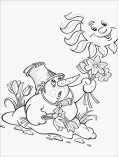 New Frühling Malvorlagen - Ae-Photo. Spring Coloring Pages, Coloring Pages For Kids, Coloring Books, Paw Patrol Coloring, Diy And Crafts, Arts And Crafts, Craft Club, Image Notes, Spring Crafts