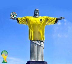Christ the Footballer #Brazil #WorldCup2014