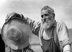 Old farmer with beard