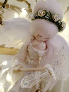 Christmas Tree Angel - Vintage Inspired by FabulousFairyFactory on Etsy