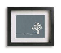 100 Years / Five For Fighting - Music Lyric Art - wedding gift idea, wedding sign, wall art, typography print, tree, home decor, anniversary on Etsy, $19.95