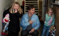 Benedict Cumberbatch, Cabin Pressure recording. December 16 2012, backstage.  Too great to not pin.