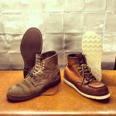 เลือกผ่านเว็บหล่อเข้มกว่า Red wing 875 boot moc toe vintage men ...
