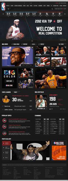 NBA .com Concept UI Design