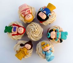 Princess figurine Cupcakes