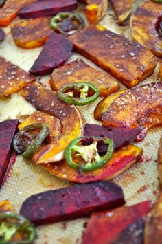 My love affair with roasted vegetables. Spiced and Spicy Roasted Vegetables with Creme Fraiche. www.freshandhappy.com