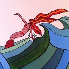by Sandra Moncusi #surf #surfing #surfart #art #drawing #waves