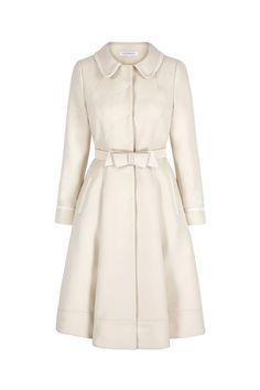 Hugo Boss Celiana Drapey Belted Smart Trench Coat (£500) ❤ liked ...