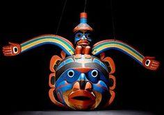 Mask; Kwaikutl, Lelooska (Don), Rainbow Man, 23 inch.
