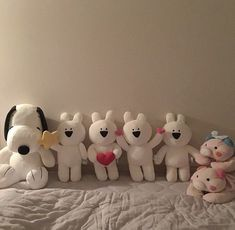 ─ ✧・゚suqaplum Hugs And Cuddles, Kawaii Plush, Cute Stuffed Animals, Plush Pattern, Plushies, Softies, Snoopy, Dolls, Etsy