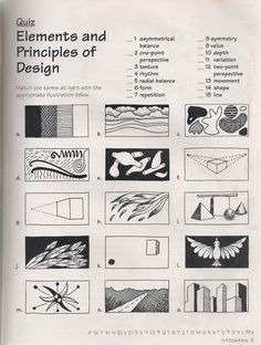 No Corner Suns: The Elements and Principles of Art: Free Quiz download, or review for your class that your students will not understand and ...