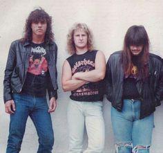 Chuck Schuldiner, Bill Andrews and Rick Rozz (DEATH)
