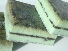 Cucumber Melon Soap - Green Soap - Exfoliating Soap with Poppy Seeds by HoookedBathandBody, $5.00