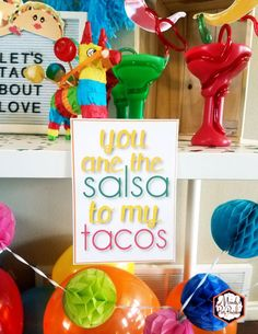 You are the salsa to my tacos 5x7 printable sign from a Taco Bout Love Valentine Taco Party | Mandy's Party Printables #valentineparty #tacoparty #tacoboutlove #ilovetacos #MPP #fiesta