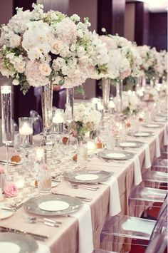 Stunning decor! Photo by Sarah Kate Photography. www.wedsociety.com #wedding #blush